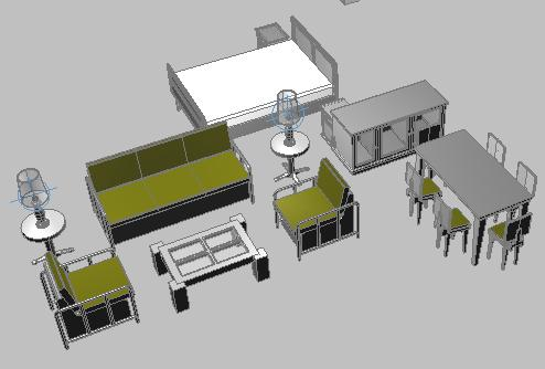 Furniture 3d In Autocad Cad Download 049 Mb Bibliocad