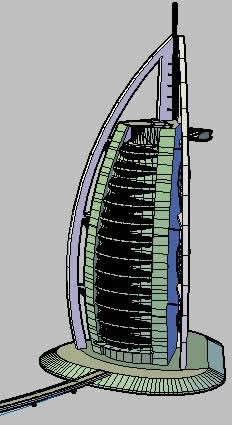 Burj Al Arab Hotel Dubai In Autocad Cad Download 4 22