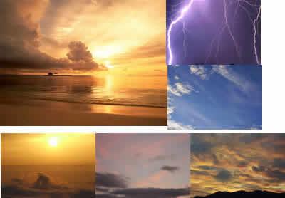 Heavens textures--graphic resources