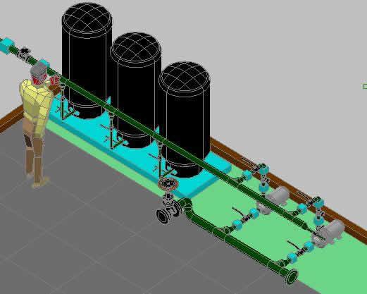 Sistema Hidroneumatico En Autocad Descargar Cad Mb