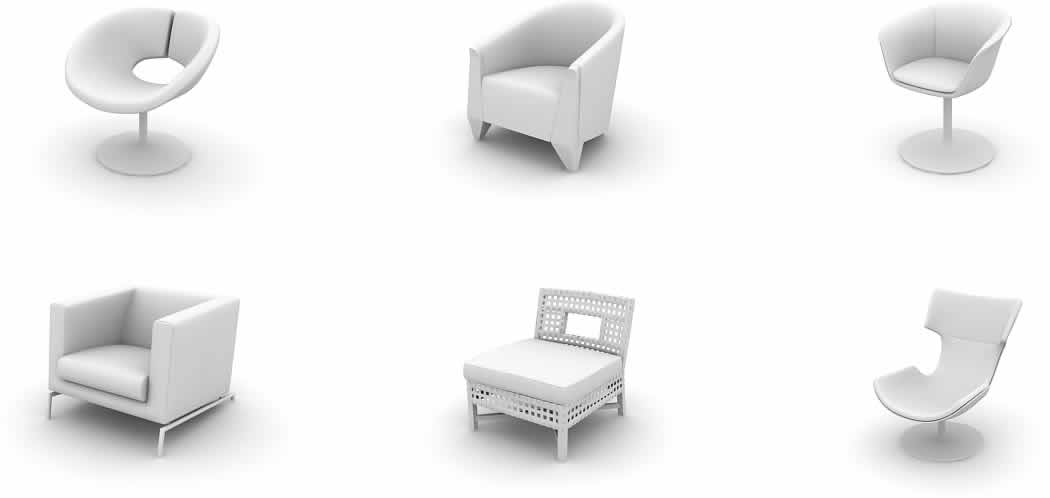 Models of chairs 3d