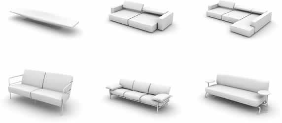 Models of armchairs 3d