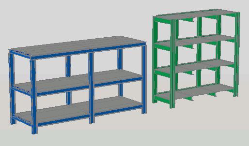 estantes para carga media y pesada