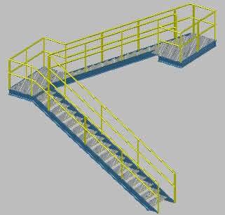 Industrial Staircase, 30 rungs. Conforms to Venezuelan law.