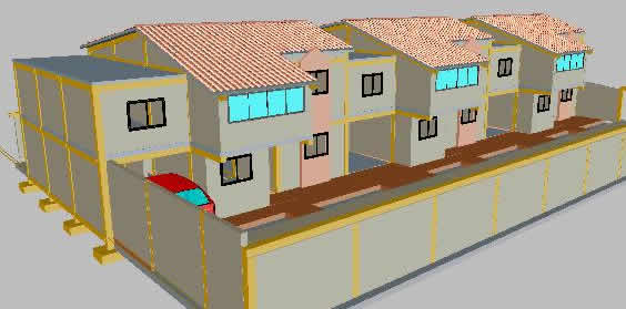 3 Unit Multifamily development, Santa Ana Coro, Venezuela, in 3D