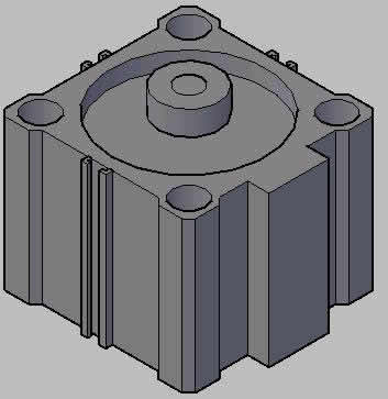Pneumatic Piston 3d
