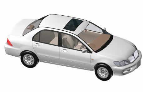 Mitsubishi Auto 3d