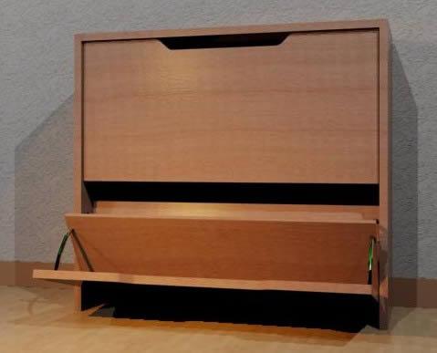 Mueble para guardar zapatos apilable. 3d - Bibliocad