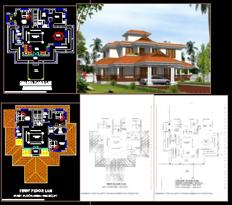 Nalukettu in autocad download cad free mb bibliocad - Autocad home design software free download ...