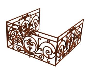 Baranda para balcon en 3ds descargar cad kb bibliocad - Barandas de hierro modernas ...