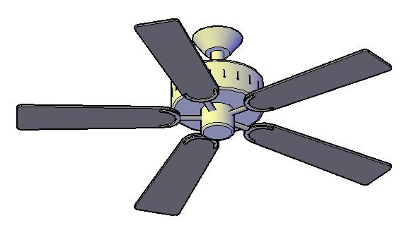 Ventilador Blanco 3d