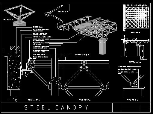 Canopy Detail In Autocad Download Cad Free 2 12 Mb Bibliocad