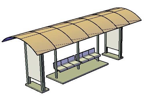 Bus -  parada 3d