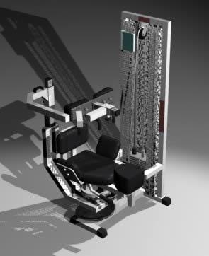 Gym equipment machine with pulleys 595.51 kb bibliocad
