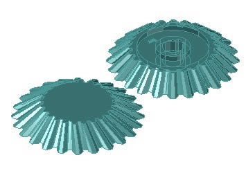 Bevel gear in AutoCAD   Download CAD free (192 62 KB