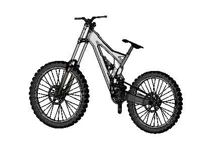Prototipo Bicicleta Dh En Autocad Descargar Cad 1357 Mb