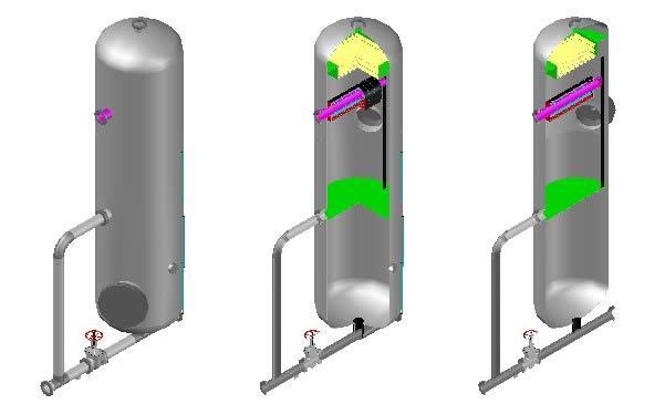 Separador 3d - separador de crudo y gas