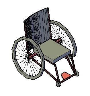 Silla de ruedas 3d