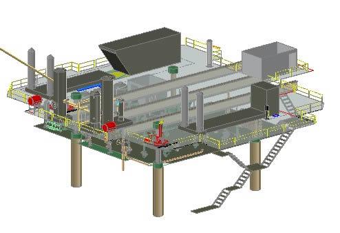 Plataforma petrolera - 3d