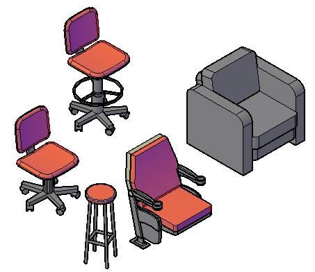 Isometricos De Sillerias En Autocad Descargar Cad Gratis 519