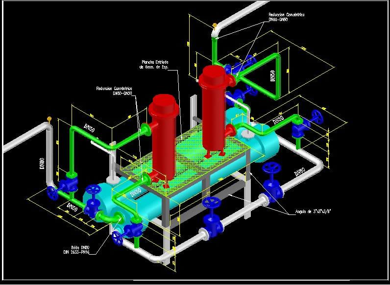 heat exchanger in autocad