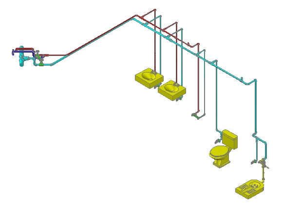 Toilet Water Supply Detail In Autocad Cad 4 43 Mb