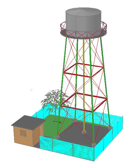 Elevated Tank 3d