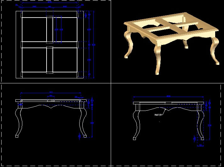 Center Table In Autocad Cad Download 324 47 Kb Bibliocad