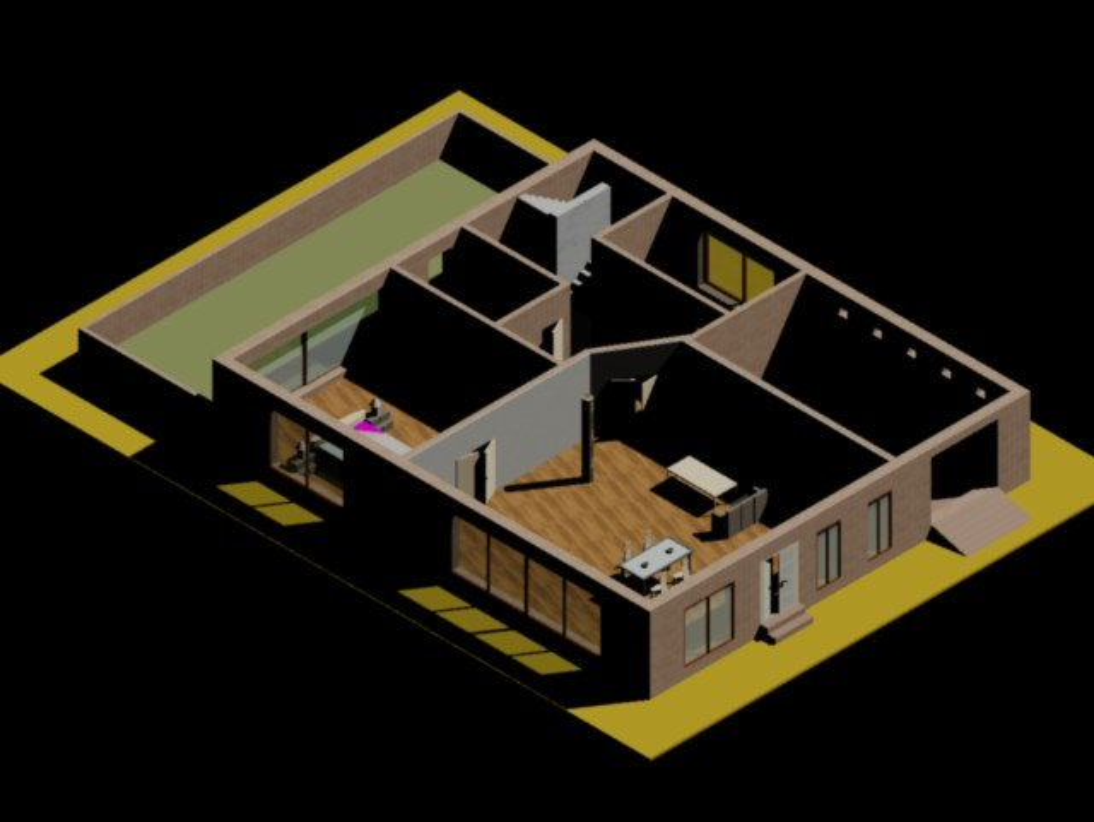 Housing ground floor 3D