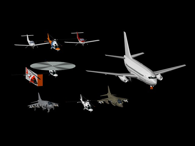 Helicopteros y Aviones 3D
