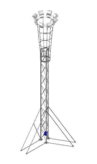 Torre de iluminacion transportable 3D
