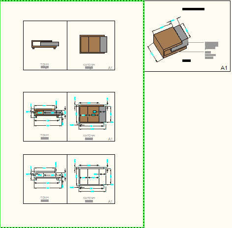 Coffee Table Dwg