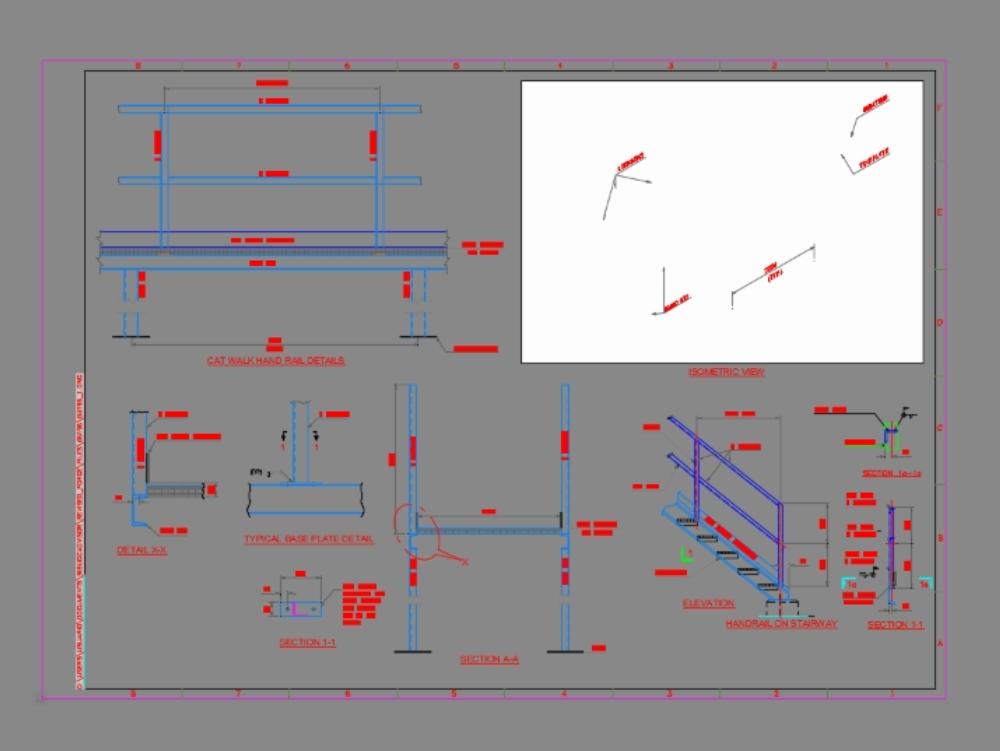 Shell Gas Station Car Wash >> Walkway platform in AutoCAD | CAD download (3 MB) | Bibliocad