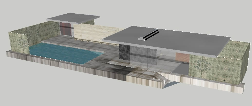 Barcelona Pavilion By Mies Van Der Rohe  3D Model 3ds