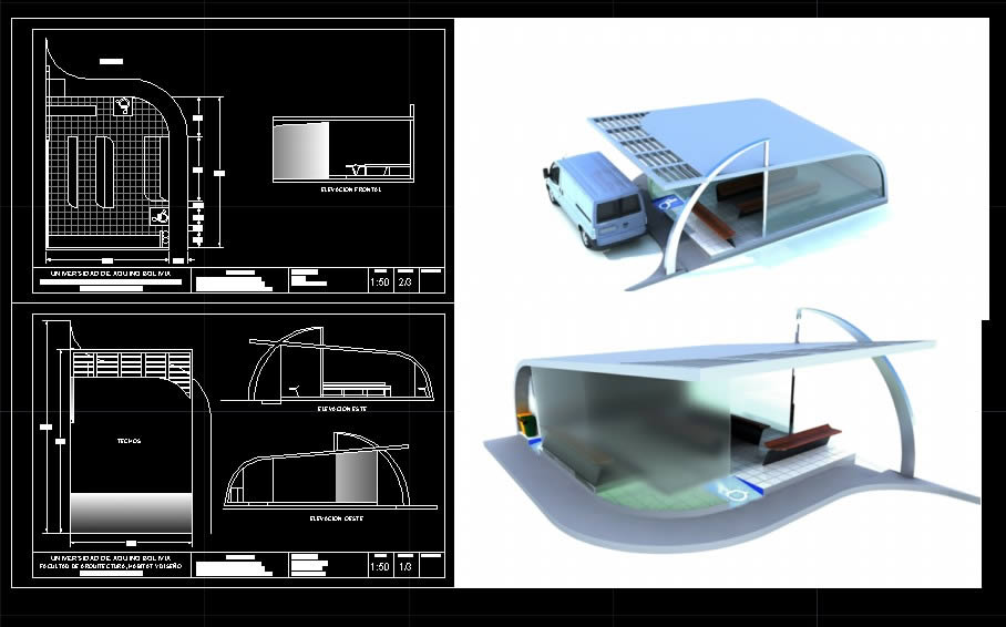 Bus Stop Shelter In Max Cad Download 5 27 Mb Bibliocad