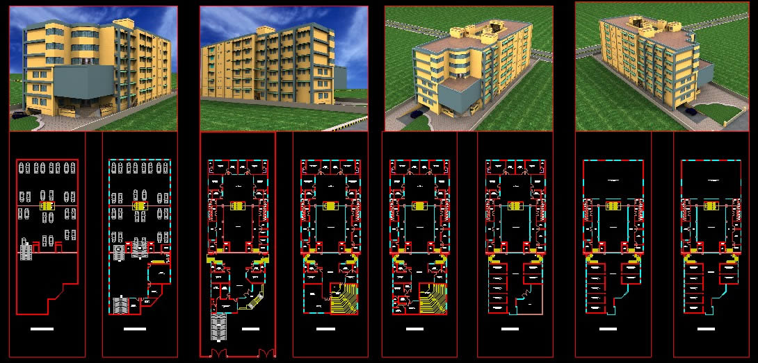 Office Building 8 Storeys In Autocad Cad 297 67 Kb