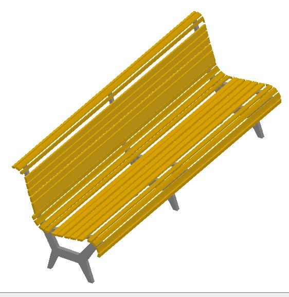 PARK BENCH IN 3d