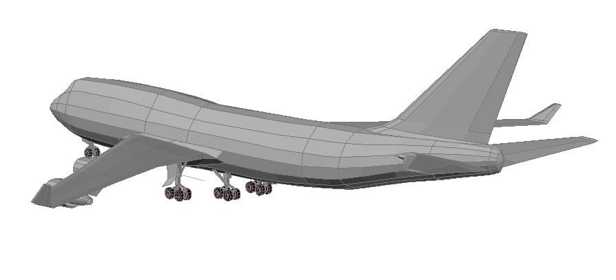 Boeing 747 - 400 in 3d