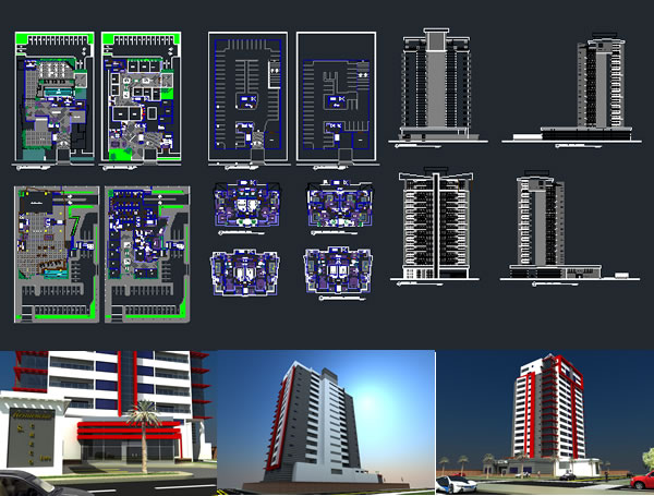 Company Building And Apartment Tower 3d And 2d 23 07 Mb