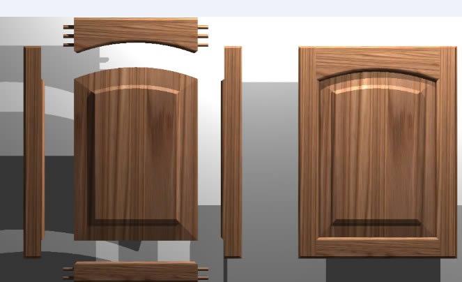 Kitchen Cabinet Door Solid Wood Panel 3d 2 82 Mb Bibliocad