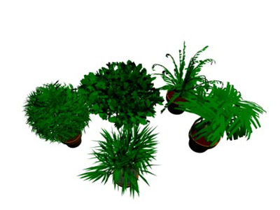 Shrubs and plants 3dmax in AutoCAD | Download CAD free (9 13