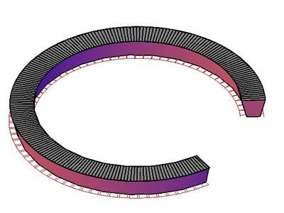 Circular Seating in 3d