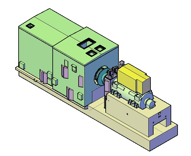 Electrical Generator In 3d In 3ds