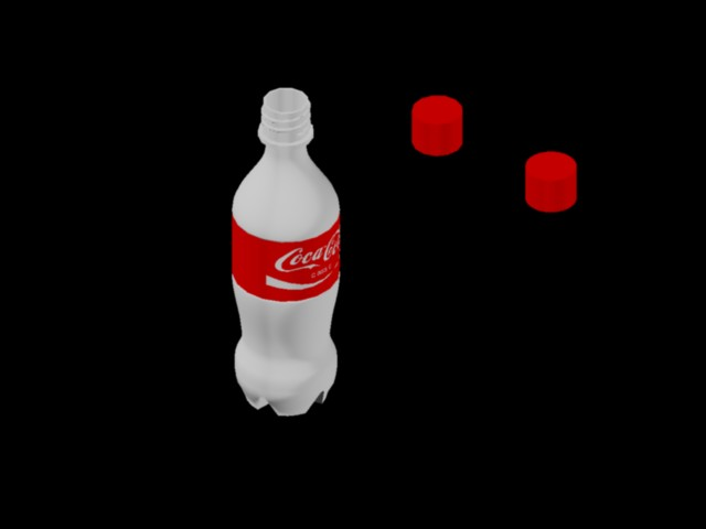 3D Bottle - Coca - Cola