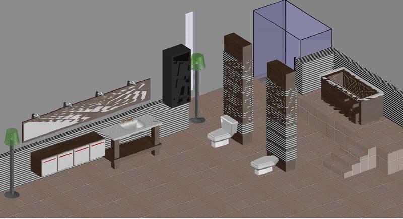 Bathroom design 3D