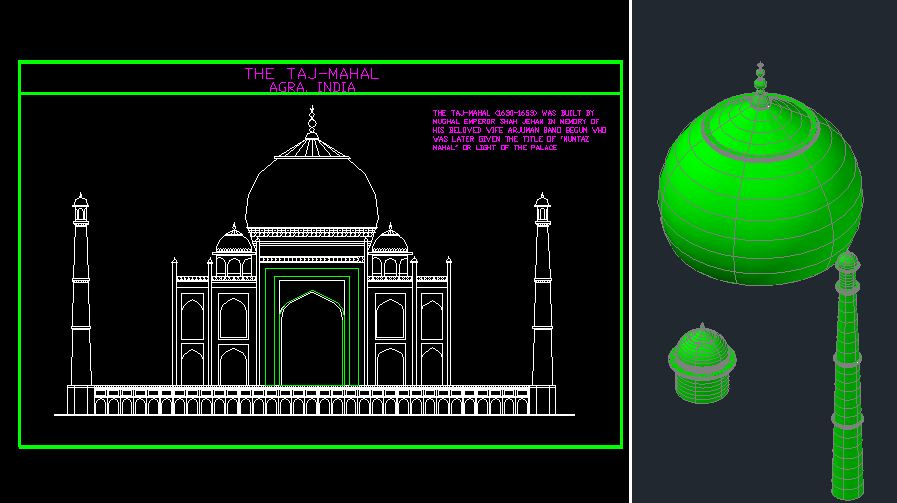 Mosque In Autocad