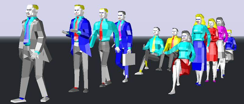Personas en 3D para render