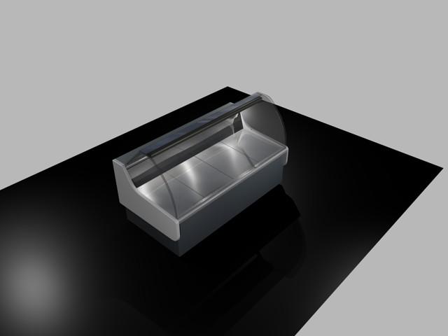 Vitrina Exhibidora Refrigerada 3D