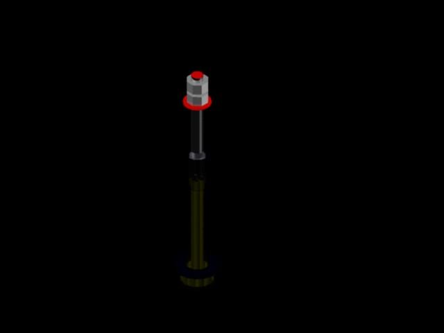 Anchor bolt 3d in AutoCAD | Download CAD free (322 KB) | Bibliocad