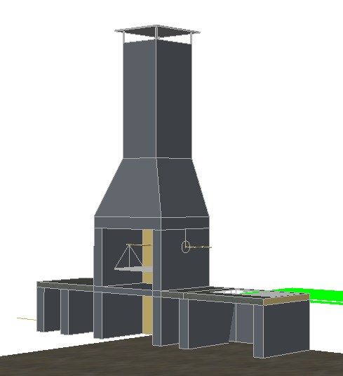 Parrilla Grill In 3d In Autocad Cad Download 831 18 Kb